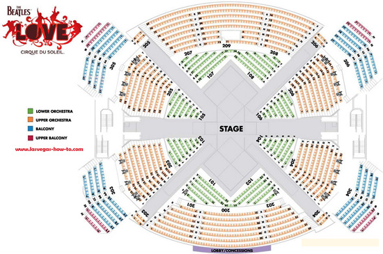 Showtimevegas com las vegas seating charts