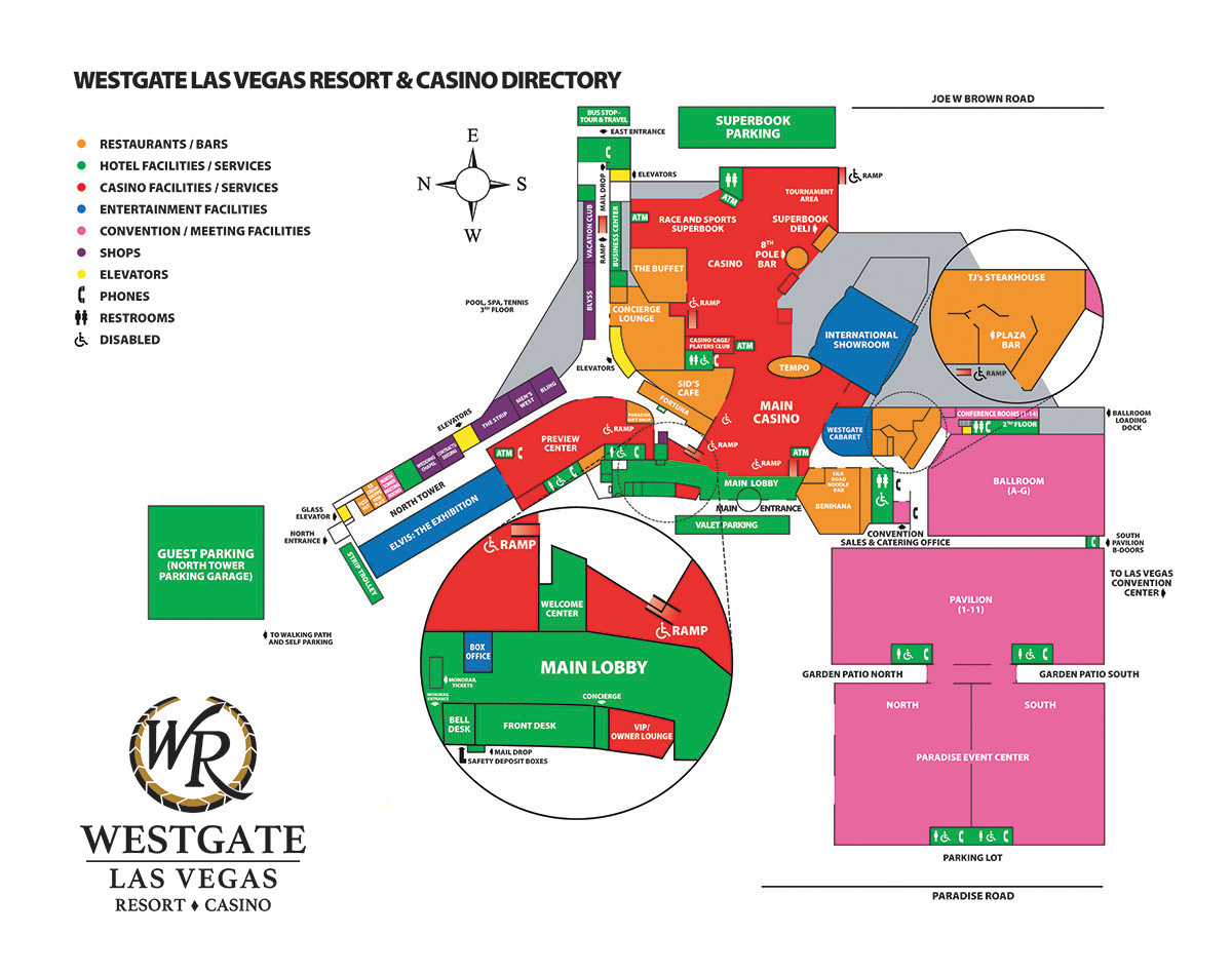 ShowtimeVegascom Las Vegas Facility Site Maps - Las vegas map of hotels