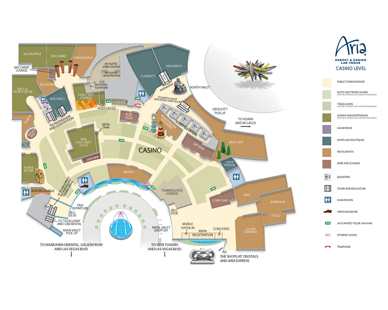 Aria Property Map - Las Vegas