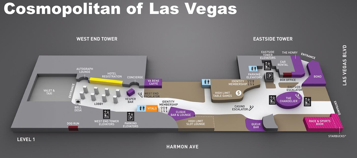 Showtimevegas Las Vegas Facility Site Maps: Cosmopolitan Las Vegas Map At Slyspyder.com
