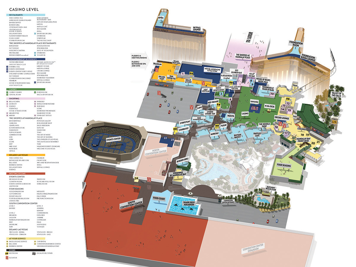 Mandalay Bay  Facility Map - Las Vegas