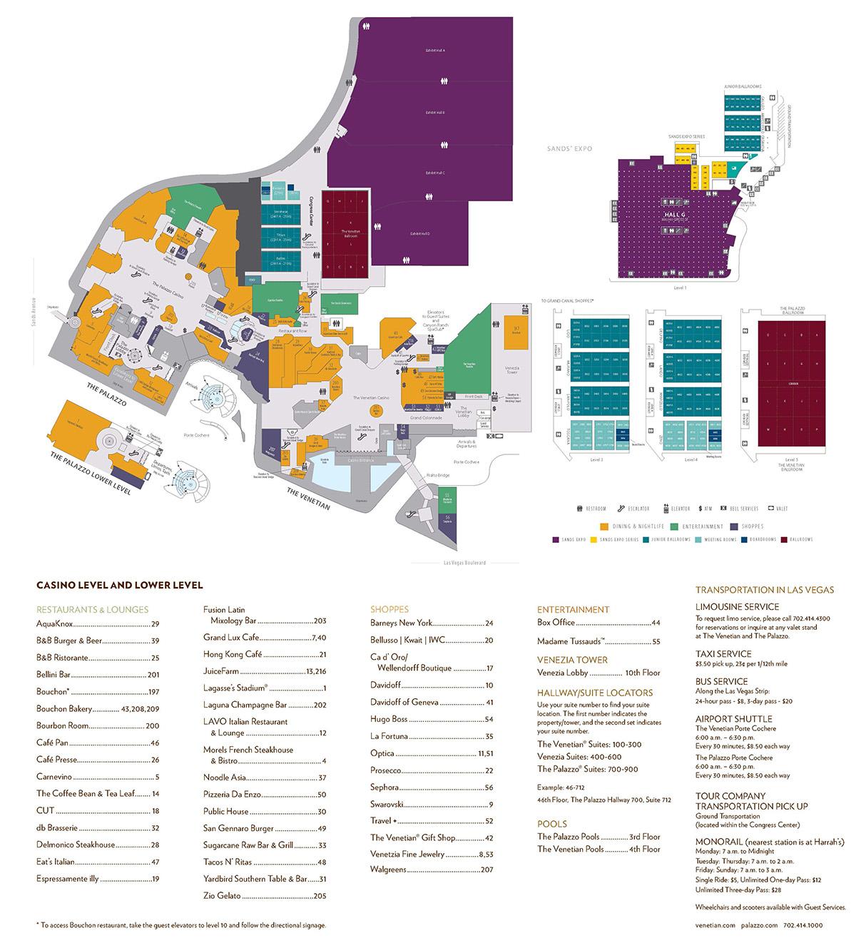 ShowtimeVegascom  Las Vegas Facility Site Maps